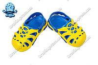 Детские сабо (Код: Сабо дети желт-синий)