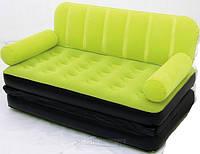 Надувной диван 2 в 1 Bestway 67356 (насос+сумка) 188 х 152 х 64 см., фото 1