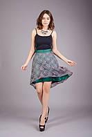 Яркая летняя юбка из легкой ткани