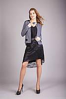 Стильная женская юбка удлиненная сзади