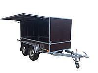 Прицеп фургон для торговли 3,0 м х 1,5 м х 1,65 м. Тормоз наката Knott 2,7т.