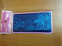 Трафарет для стемпинга металлический прямоугольный со сказочными рисунками YRE PSO-10