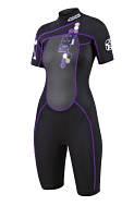 Короткий гидрокостюм Shorty Indy Purple женский , фото 1