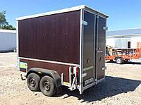 Торговый павильон на колёсах 3,0 м х 1,5 м х 1,65 м. Тормоз наката AL-KO 2,7т.