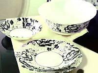Набор посуды на 6 персон Alcove Black 19 приборов