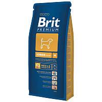 Корм для пожилых собак средних пород Brit Premium Senior M, 15 кг