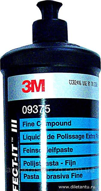 Абразивная полировальная паста Fine Compound №2 3M 09375