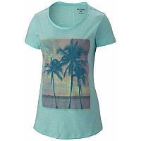 Женская футболка Columbia SUNSET COVE™ SHORT SLEEVE TEE бирюзовая AL5447 377