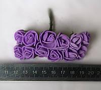 Розочки латексные фиолетовые 1,5 см на проволоке