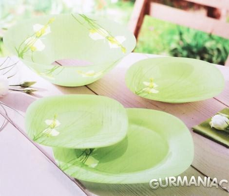 Набор посуды на 6 персон Sofiane Green 19 приборов