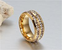 """Кольцо с кристаллами """"бриллиантовый блеск"""""""