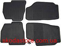Резиновые коврики для салона Skoda Rapid