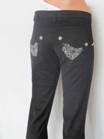 Брюки женские  черные р.16,20,22,24  модные брюки scarbnichka.com.ua, фото 2