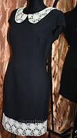 Платье  синее с цветами р.42,44,48. модные платья http://scarbnichka.com.ua