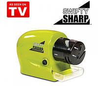 Универсальная ножеточка на батарейках Swifty Sharp Motorized Knife Sharpener (точилка Свифти Шарпене), фото 1
