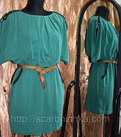 Платье  темно-зел. р.S, M, L. нарядные платья http://scarbnichka.com.ua