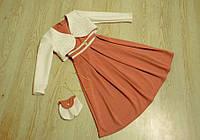 Детское платье с болеро и сумочкой