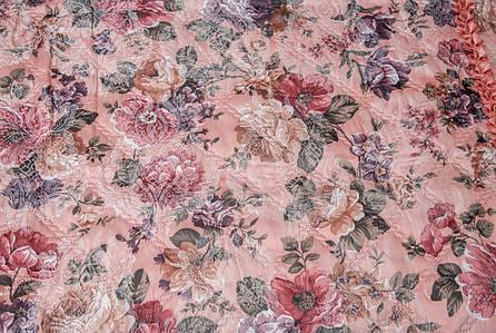 Покрывала цветок атлас розовый 180*210, фото 2