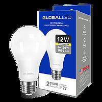 LED ЛАМПА GLOBAL A60 12W МЯГКИЙ СВЕТ 220V E27 AL (1-GBL-165) (NEW)