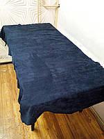 Натуральная кожа Нубук синий