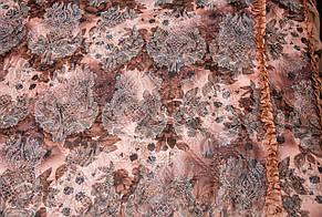 Покрывала цветок атласное коричневое 180*210, фото 2