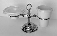Настольный набор аксессуаров для ванной PACINI & SACCARDI OGGETTI APPOGGIO 30121 хром