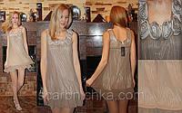 """Платье """"Милашка"""" """"The Hanger"""" кофейное, размер M, L Розн.:235.00 Опт:158,00 купить платье на выпуск"""