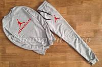 Мужской спортивный костюм Джордан серый