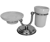 Настольный набор аксессуаров для ванной PACINI & SACCARDI OGGETTI APPOGGIO 30119 хром