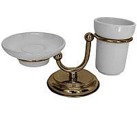 Бронзовый настольный набор аксессуаров для ванной PACINI & SACCARDI OGGETTI APPOGGIO 30119