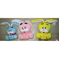 Мягкая игрушка озвученая Кролик бедняга (15 см) №11014-15