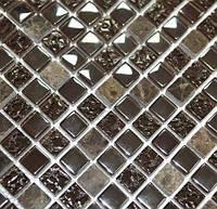 Мозаика Kale-Bareks DAF 17 мрамор стекло (1,5х1,5) 30x30