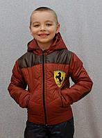 Демисезонная куртка на мальчика Феррари, фото 1