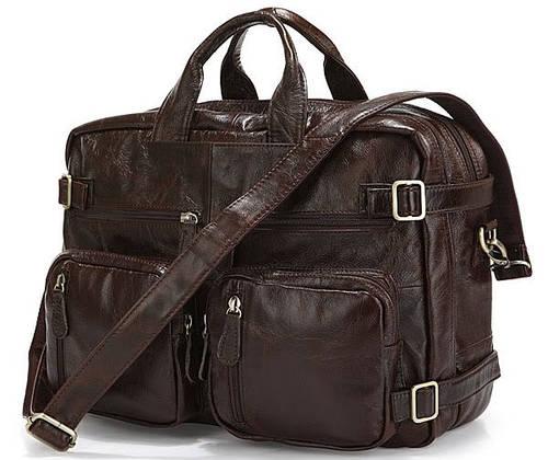 Мегафункциональная сумка из натуральной кожи  JASPER&MAINE 7061C