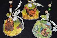 """Пасхальное украшение , ретро подвеска """"Досточки-петушки"""" 55/45,15см (ручная работа)"""