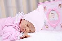 Трикотажная молочная шапочка-колпачок для новорожденных деток 0-3 мес