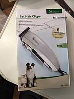 Машинка для стрижки собак и котов Surker HC-585 Pet Hair Clipper  с 6 насадками, триммер Суркер 585, фото 1
