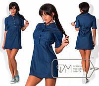 Модное джинсовое платье мини