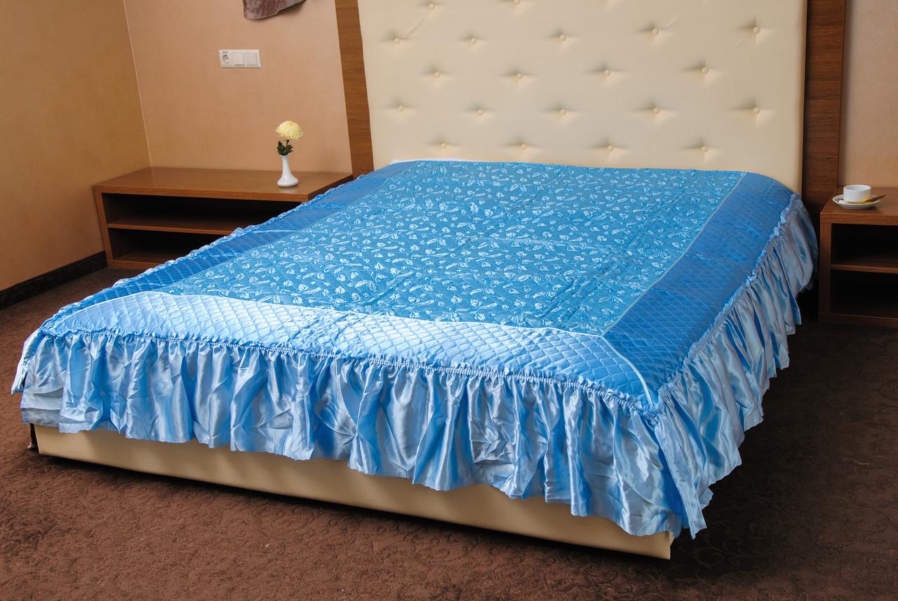 Покрывало Ретро голубой 180*210
