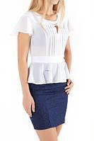 Женское летнее офисное платье с поясом, фото 1