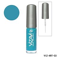 Лак для рисования с тонкой кисточкой Vizavi голубой
