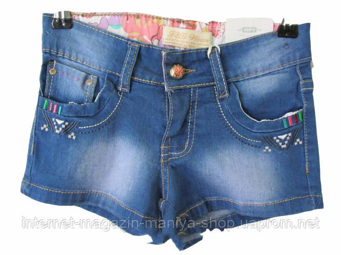 Джинсовые шорты на девочку