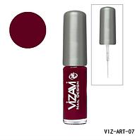 Лак для рисования с тонкой кисточкой Vizavi бордо