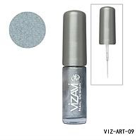 Лак для рисования с тонкой кисточкой Vizavi серебро