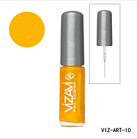 Лак для рисования с тонкой кисточкой Vizavi яркое золото