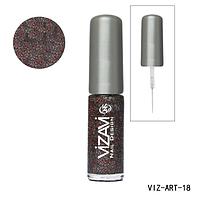 Лак для рисования с тонкой кисточкой Vizavi розово-синий Mix с микроблестками