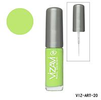 Лак для рисования с тонкой кисточкой Vizavi салатовый