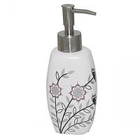 Диспенсер для мыла Полевые цветы 340мл 19*6*5см