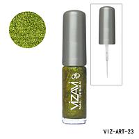 Лак для рисования с тонкой кисточкой Vizavi травяной