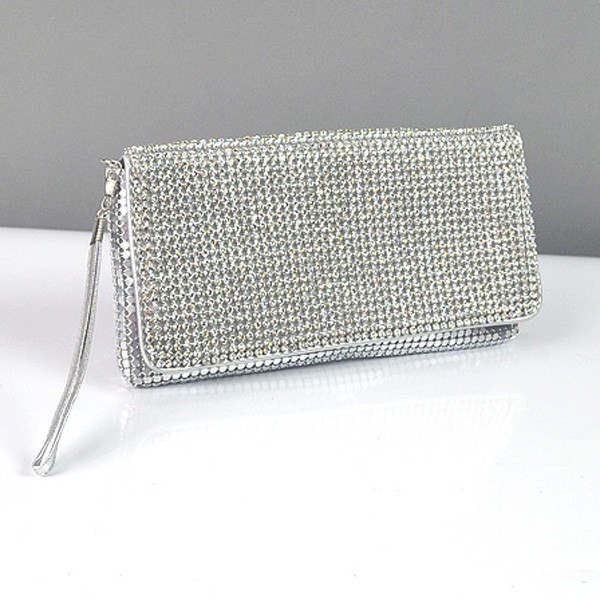 75d8fd904ab7 Клатч из камней женский выпускной вечерний сумка малая серебро Rose Heart  3211 - Интернет-магазин
